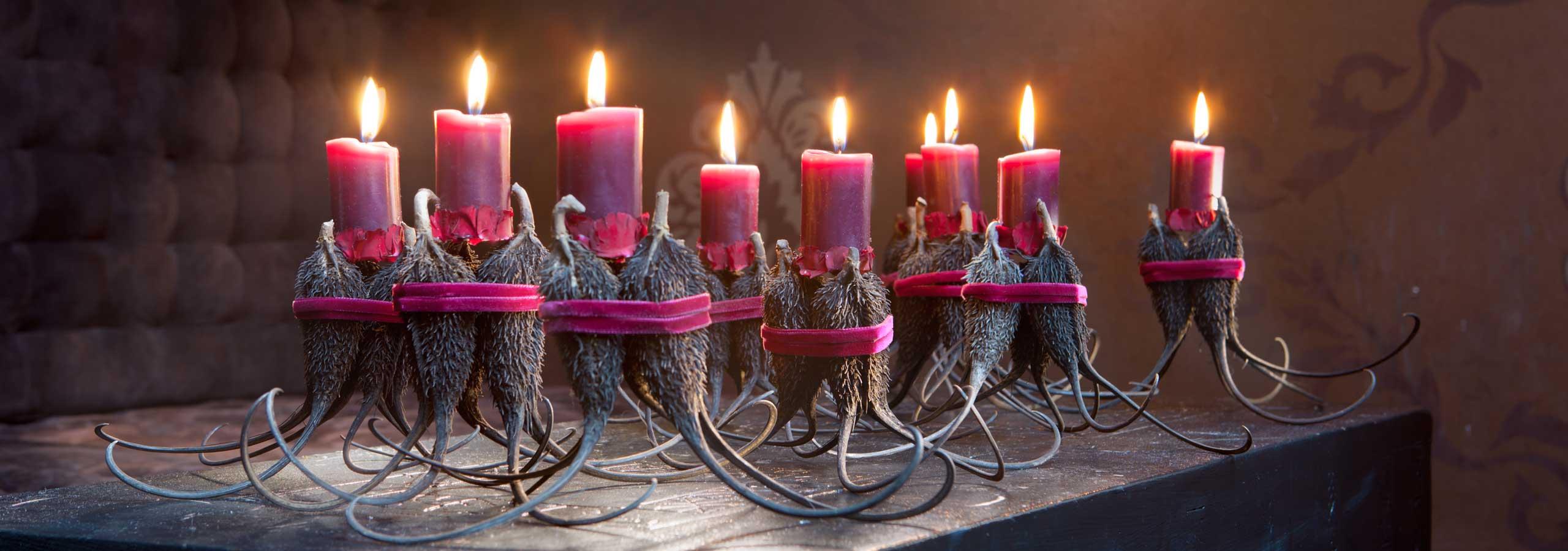 Weizenkorn Kerzen